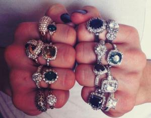 Bee's Knees rings